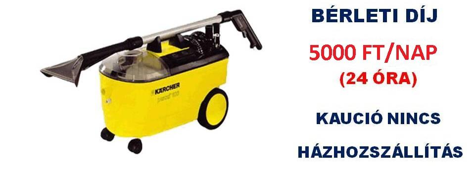 Kärcher takarítógép kölcsönzés árak